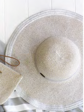 Silver Cabana Floppy Hat | Purity Lace Designs