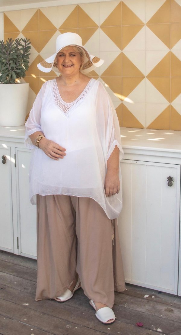 Curvy Coffee Latte Flapper Pants | Purity Lace Designs